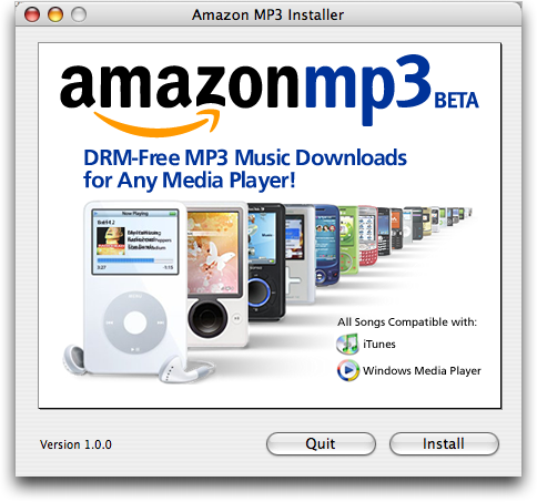 Can I put mp3 music from Amazon's music store on my Apple