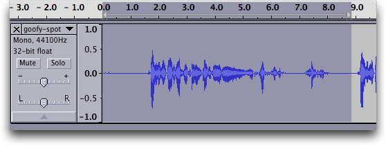 Audacity audio editor: Waveform #2