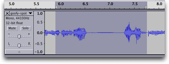 Audacity audio editor: Waveform #3