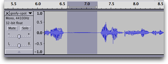 Audacity audio editor: Waveform #4