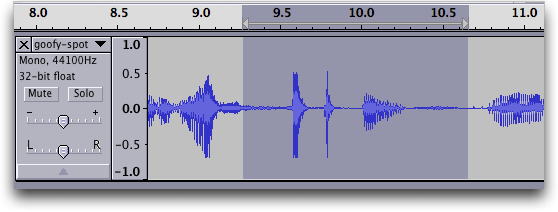 Audacity audio editor: Waveform #5