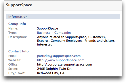 Facebook Group Info for 'SupportSpace' :: Facebook Help