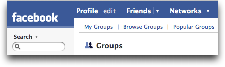 Facebook Groups menu :: Facebook Help