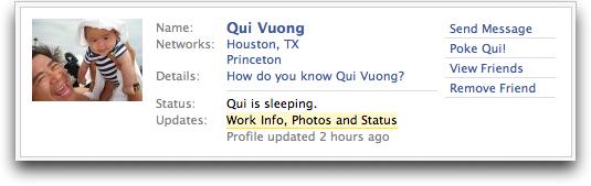 Facebook Friend Profile