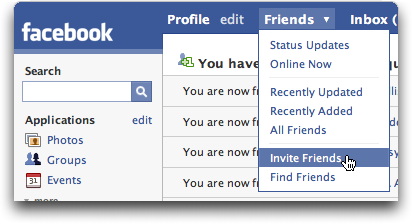 Facebook: Invite Friend