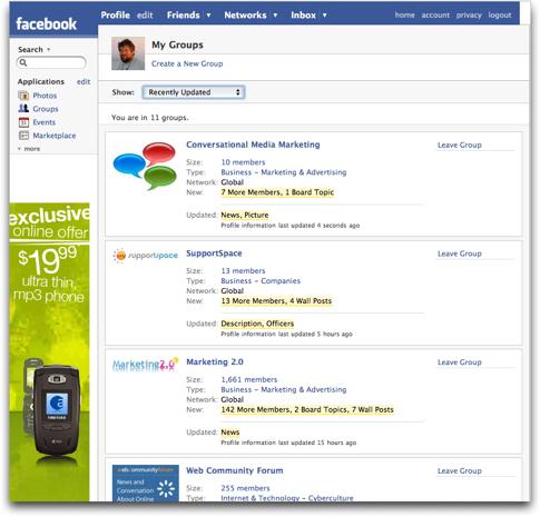 Facebook: My Groups :: Facebook Help