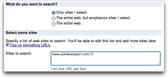 Google Custom Search: Basic Configuration