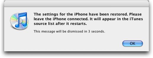 iphone 2 restoring backup 3