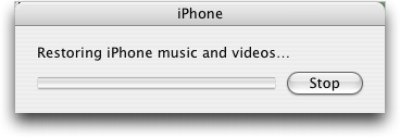 iphone 2 restoring music