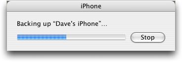 iphone 2.0 backing up