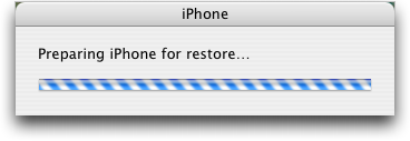 iphone 2.0 preparing restore