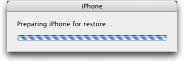 iphone 2.0 preparing restore