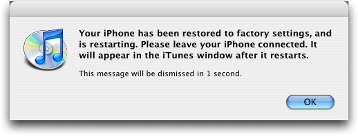 iphone 2.0 restored reboot