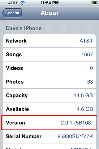 iphone 2.0.1 settings general about
