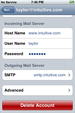 iphone reset 10: Mail, Contacts, Calendars: Delete Account