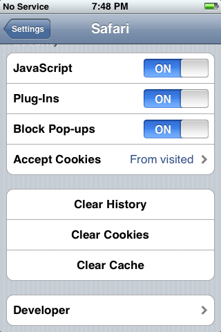 iphone reset 13: Reset: Safari