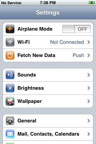 iphone reset 2: Settings