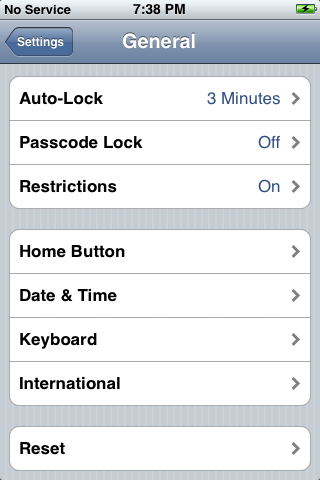 iphone reset 3: Settings: Reset
