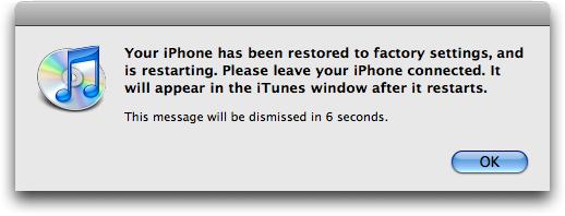 iphone restore 6