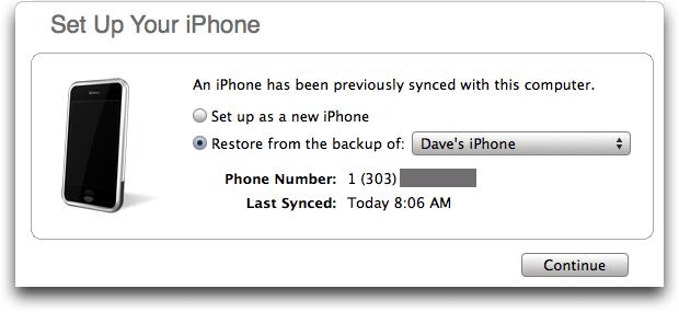 iphone restore 7