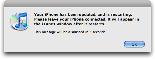 iphone software updated