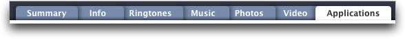 itunes 7.7 iphone 2 tabs
