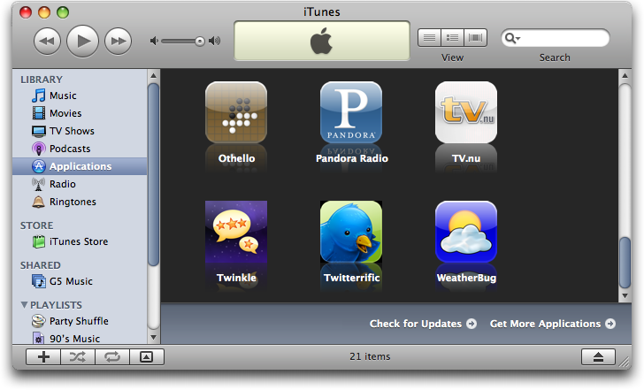 itunes applications