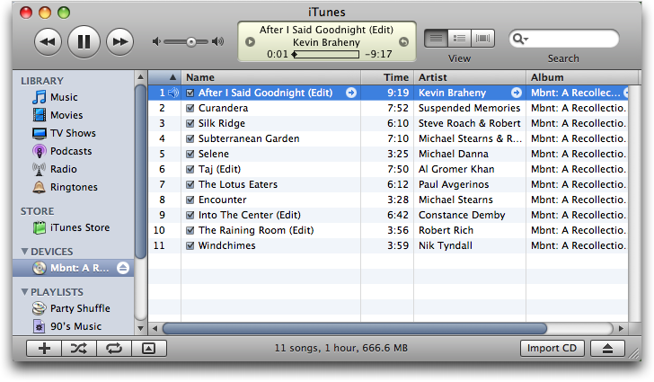 Apple iTunes: CDDB delivers up all the track song music album cd titles. yay!