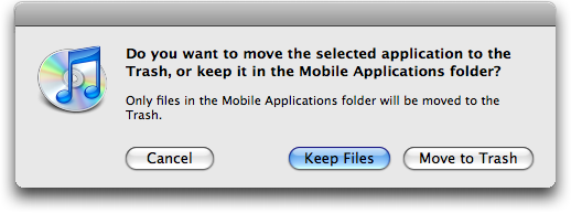 itunes remove application delete