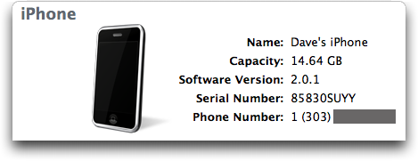 itunes showing iphone firmware