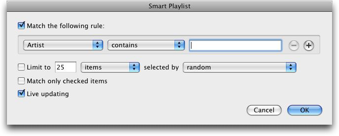 Apple iTunes Smart Playlist