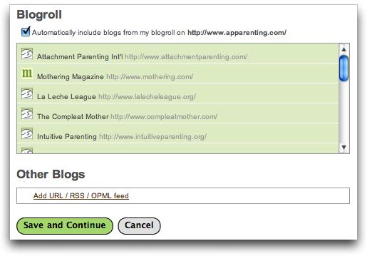 Lijit: Signup: Blogroll