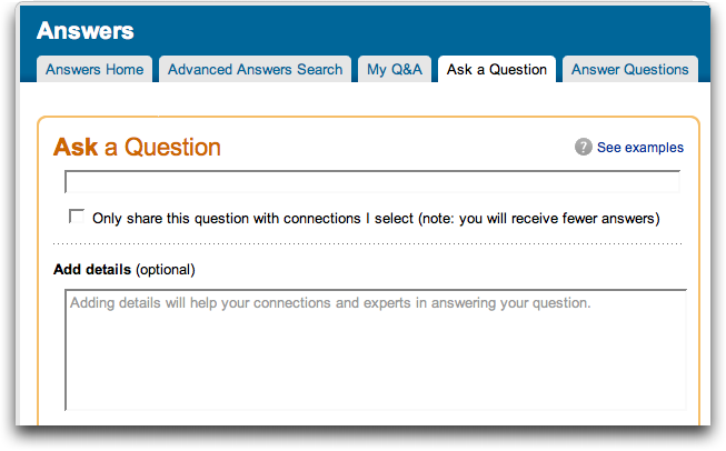 LinkedIn: Ask A Question: Details 1