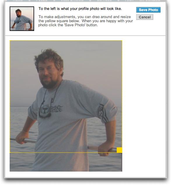 LinkedIn: Profile: Edit Profile: Crop Photo
