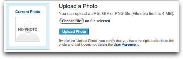 LinkedIn: Profile: Edit Profile: Upload Photo