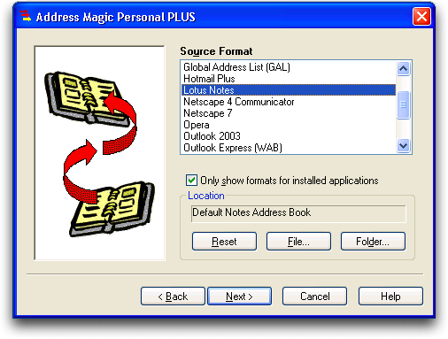 Address Magic: Lotus Notes to Microsoft Outlook: Address Book Conversion: #3