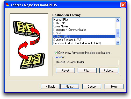 Address Magic: Lotus Notes to Microsoft Outlook: Address Book Conversion: #5