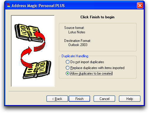Address Magic: Lotus Notes to Microsoft Outlook: Address Book Conversion: #6