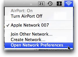 mac airport menubar menu