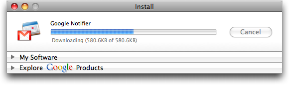 Google Notifier for Mac: Install
