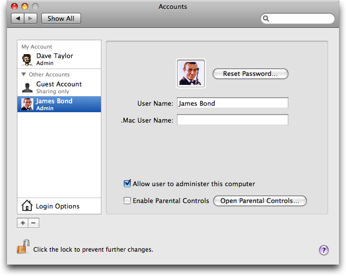 How do I change the picture on my Mac account? - Ask Dave Taylor