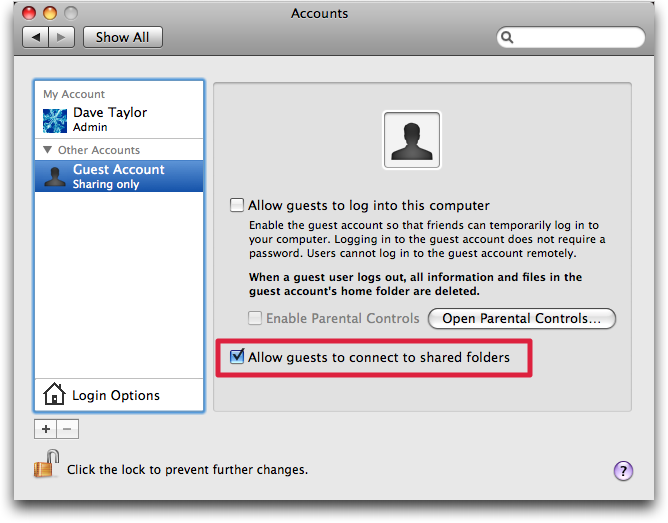 how to delete guest account on mac