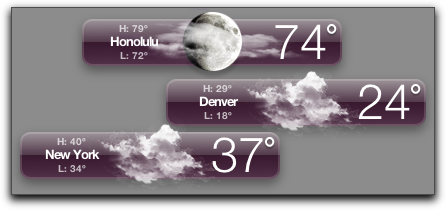 Mac OS X: Dashboard: Weather Widgets