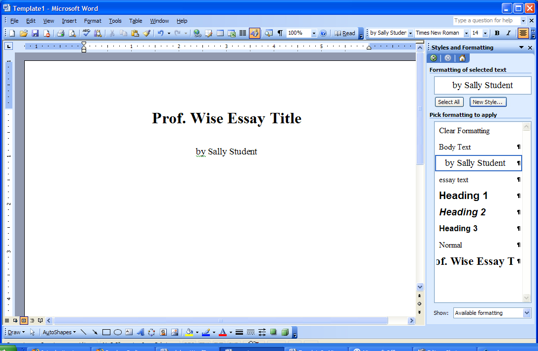 microsoft word: creating a new template document