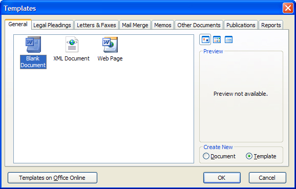microsoft word how to create a new template document