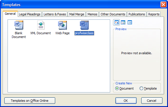 how to set up label template in word