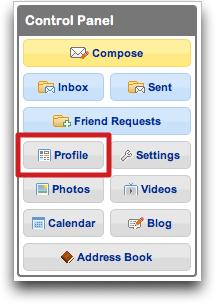 MySpace Control Panel