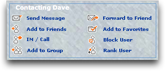 MySpace: Contact Dave Panel