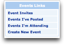 MySpace Event Links
