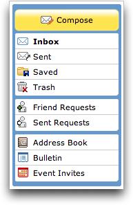 MySpace Event Links: Mail Center: Event Invites
